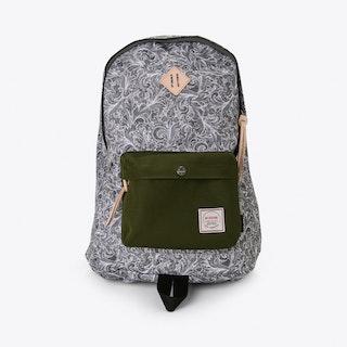 Chameleon Backpack in Grey Paisley