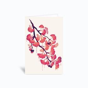 O Ginkgo Greetings Card