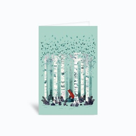 The Birches Greetings Card