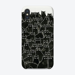 Suspicious Cats Phone Case