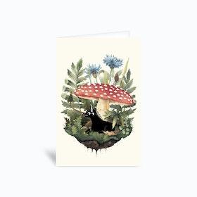 Tiny Unicorn Greetings Card