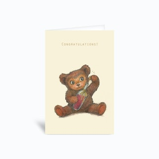 Congratulations Bear Greetings Card