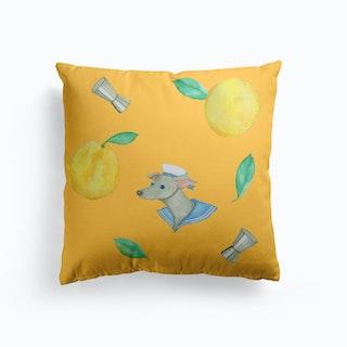 Salty Dog Yellow Cushion