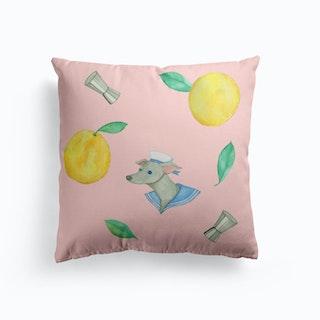 Salty Dog Pink Cushion