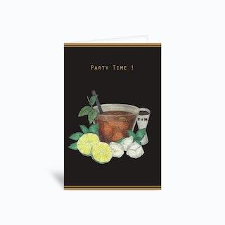 Partytime Cubalibre Greetings Card