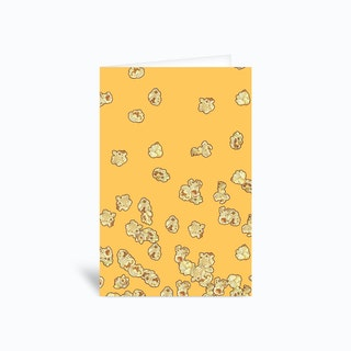 Popcorn Greetings Card