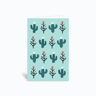 Christmas Cactus Greetings Card
