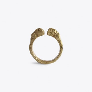 Crystallized Rock Ring in Gold