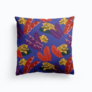 Leopards In The Forest Ii Cushion