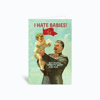 Stalin Greetings Card