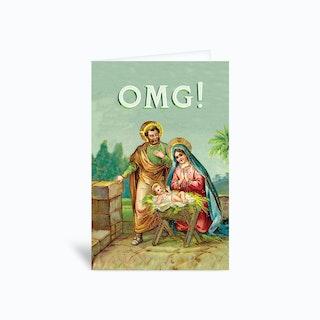 Jesus Omg Greetings Card