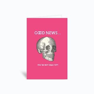 Skull Greetings Card