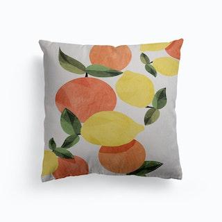 Oranges And Lemons Canvas Cushion