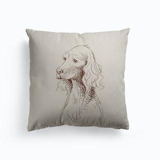 Sketch Of Teddy Canvas Cushion