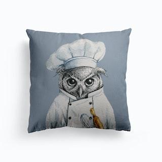Baker Owl Canvas Cushion