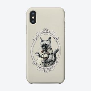 Portrait Of Lady Cat Phone Case
