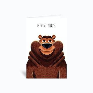 Bear Hug Greetings Card