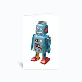 Retro Robot Greetings Card