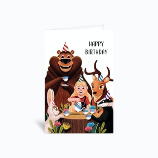 Tea Party Birthday Greetings Card