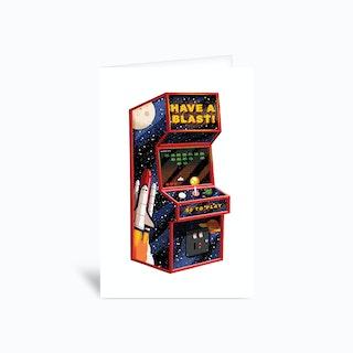 Arcade Machine Greetings Card