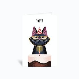Grumpy Cat Birthday Greetings Card