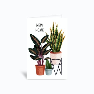 New Home House Plants Greetings Card