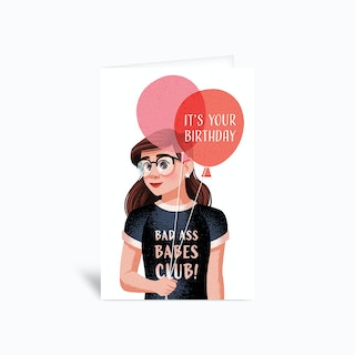 Birthday Babe Greetings Card