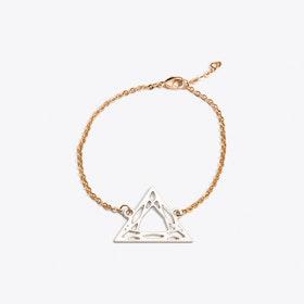 Geometric Trilliant Bracelet in Rhodium