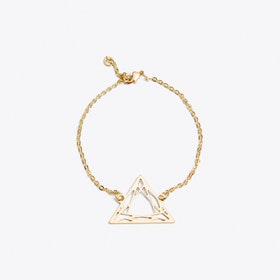 Geometric Trilliant Bracelet in Gold