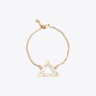Geometric Trilliant Bracelet in Gold