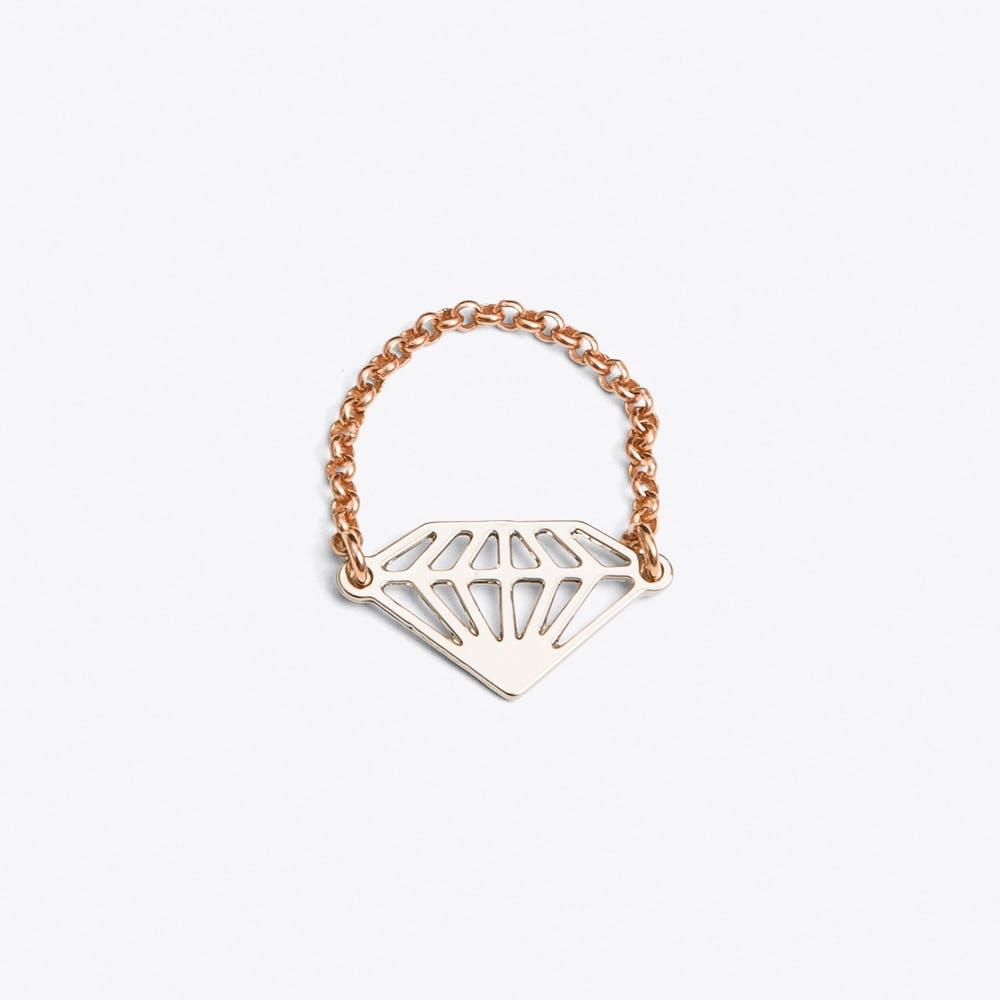 Diamond Ring in Silver
