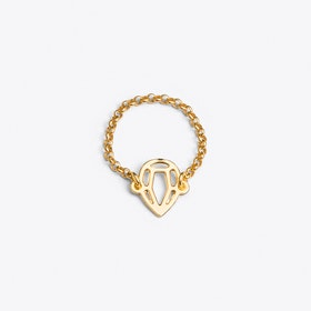 Pear Ring in Gold