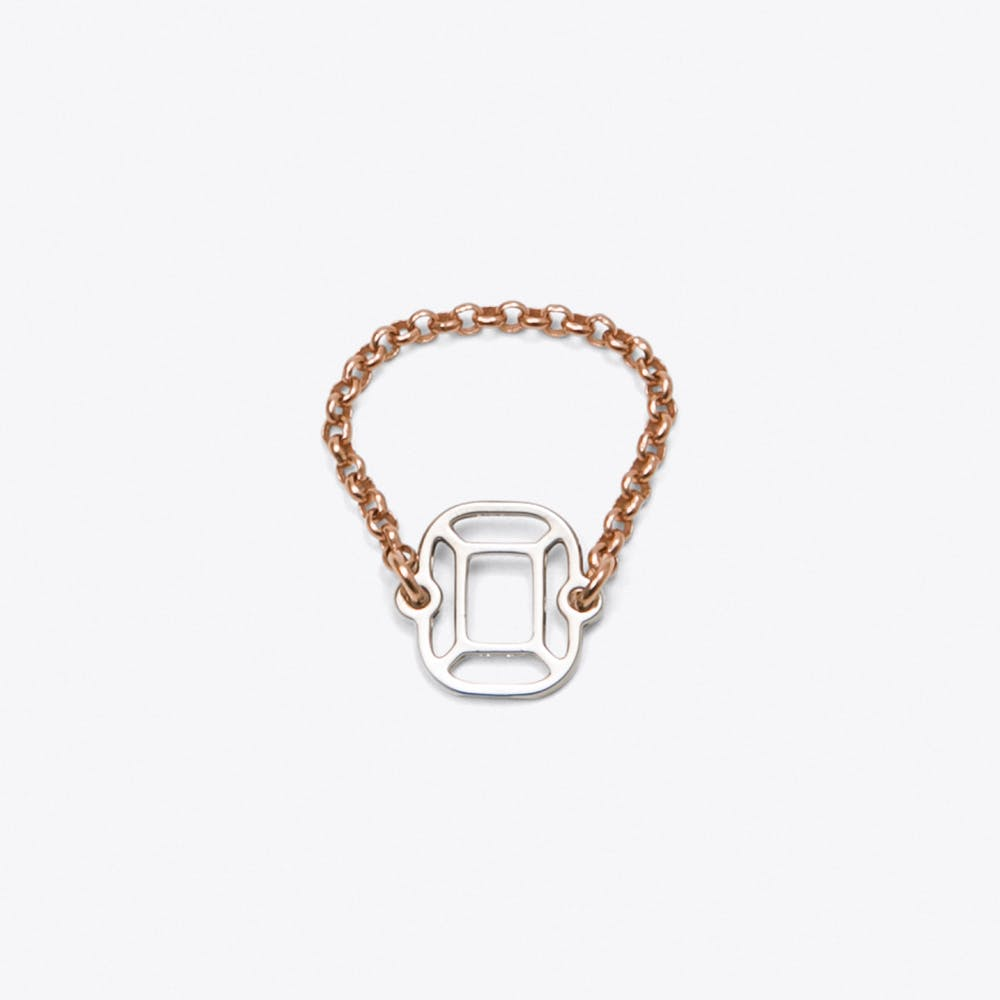 Cushion Ring in Rose Gold