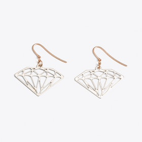 Diamond Earrings in Silver