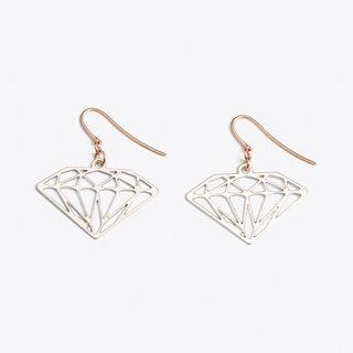Diamond Earrings in Silver