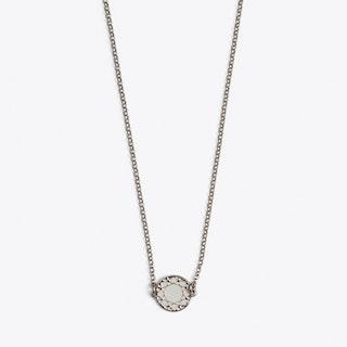 Brilliant Necklace in White Enamel