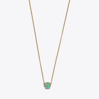 Cushion Necklace in Green Enamel