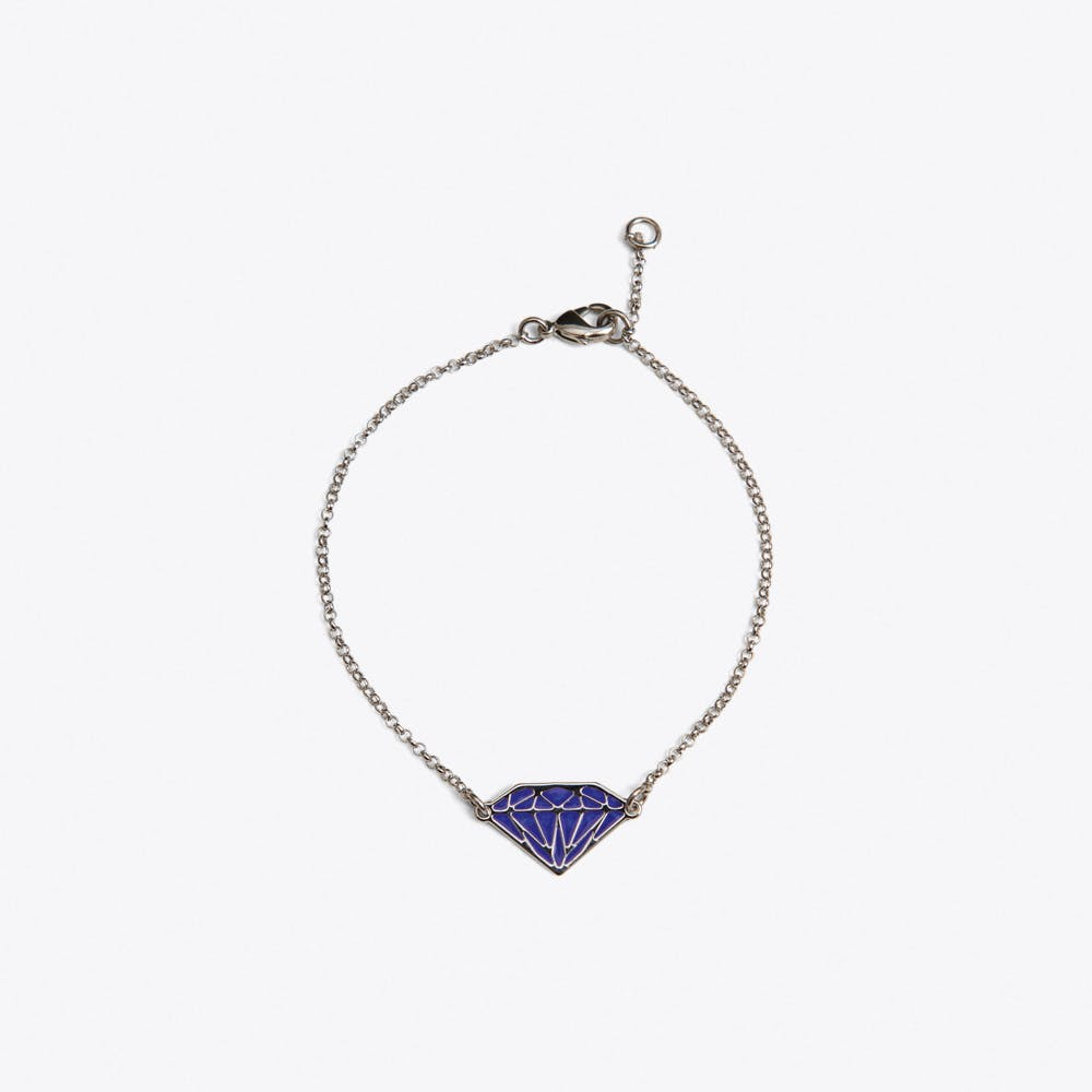 Diamond Bracelet in Violet Enamel