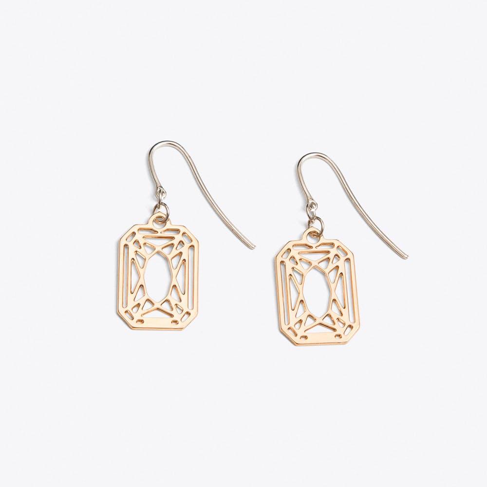 Radiant Earrings in Rose Gold