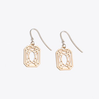 Radiant Earrings in Rose Gold