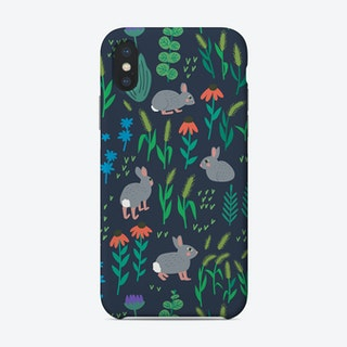 Rabbits On Meadow Phone Case