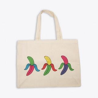 Triple Banana Canvas Shopper