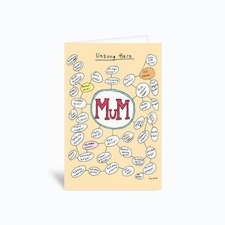 Mum Unsung Hero  Greetings Card