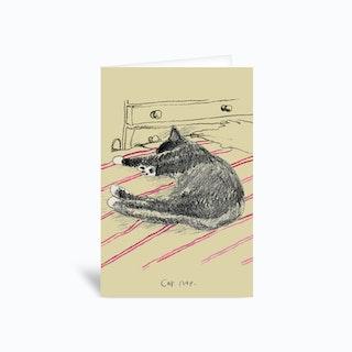 Cat Nap  Greetings Card