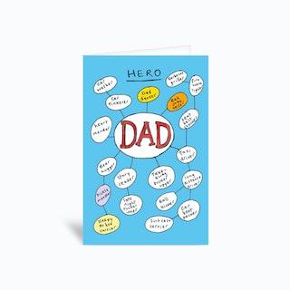 Dad Hero  Greetings Card