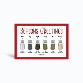 Seasons Greetings Turkey Rub  Greetings Card