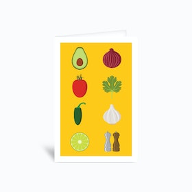 Deconstructed Guacamole Greetings Card