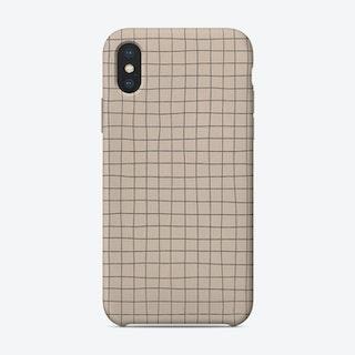 Beige Checkerboard Phone Case