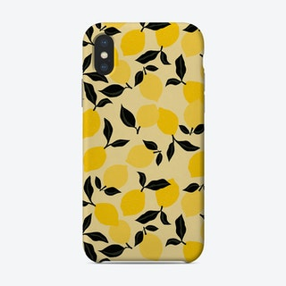 Seamless Citrus Pattern Lemons Phone Case
