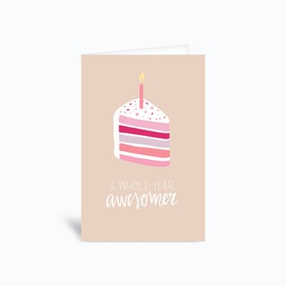 A Whole Year Awesomer Greetings Card